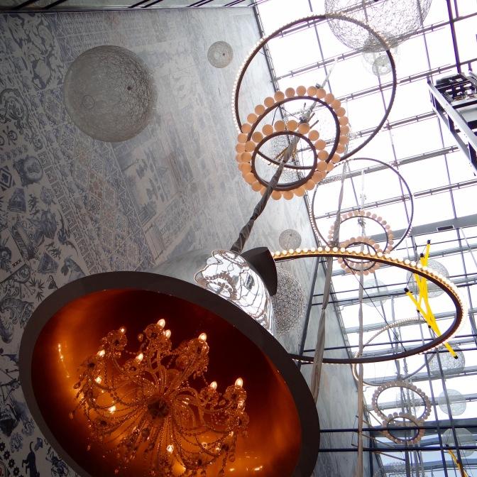 Ontwerp van Marcel Wanders: de hal  van het Andazhotel aan de Prinsengracht