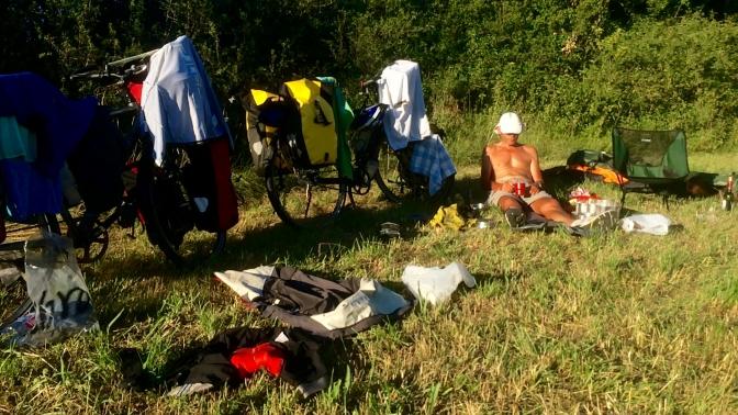Wild kamperen bij Paunac