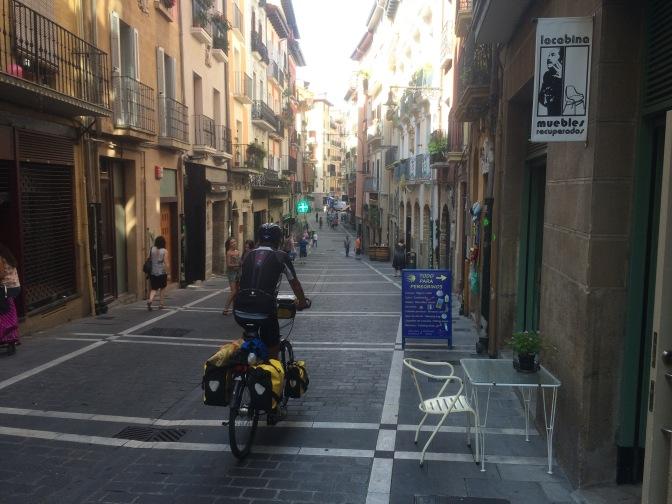 Aankomst in Pamplona