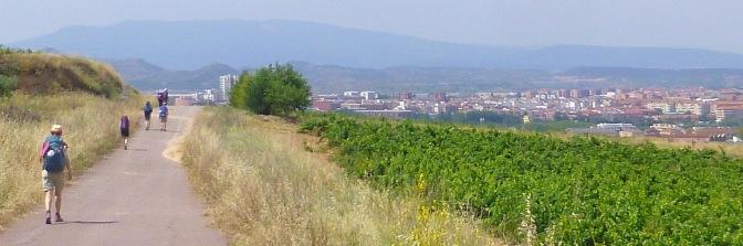 Pelgrims naderen Logroño