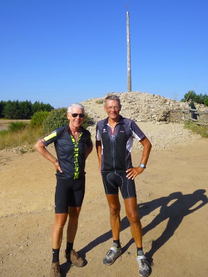 Het 'IJzeren kruis', hoogste punt van de Camino
