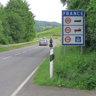 Franse grens, even voorbij Schengen