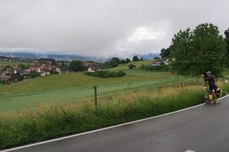 Grauwe regenwolken