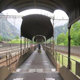 Als eersten de trein in