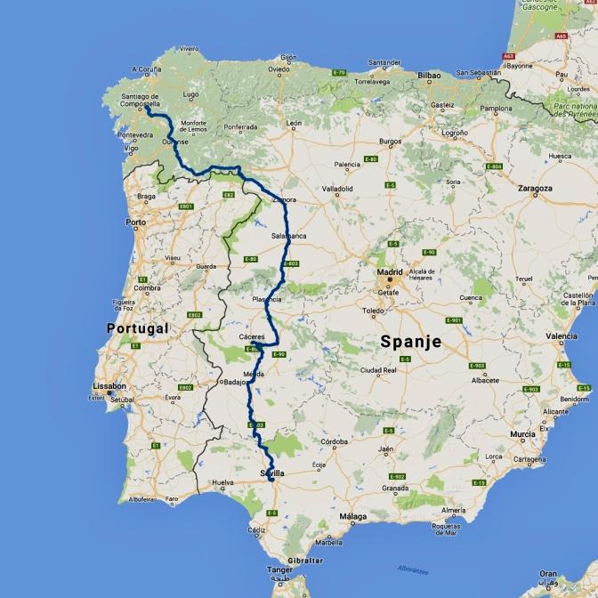 Kaart Via de la Plata