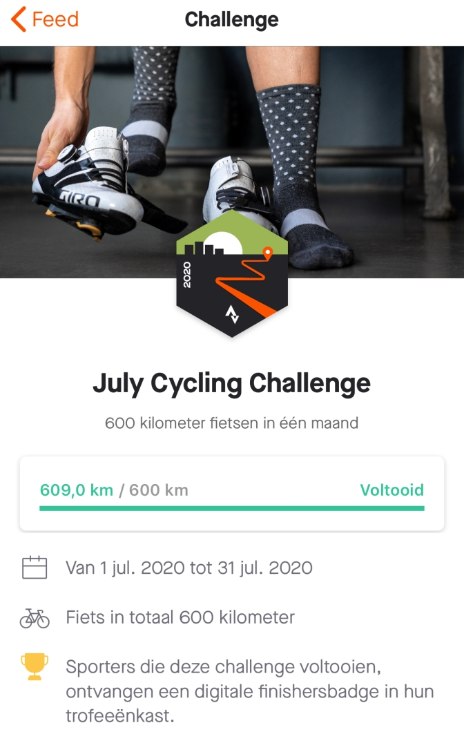 July Cycling Challenge